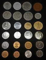 Set 24 Different Israeli Old Coins lot Collection israel Sheqel Agora 1948-2018