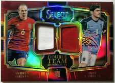 2017-18 PANINI SELECT SOCCER * INIESTA & CASILLAS DUAL PATCH #/199 RED * SPAIN!
