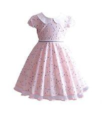 Nuevo Flor Niñas Algodón Vestido de fiesta azul rosa amarillo 4 5 6 7 8 años