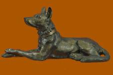 African Basenji Dog Breed Animal Pet Bronze Sculpture Statue Figurine Figure T