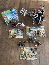 3 Lego Sets 7092 7090 7009 Castle Final Joust Skeletons Prison Carriage Attack
