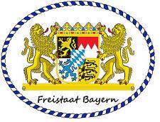 PREMIUM Aufkleber Bayern Löwenwappen oval Autoaufkleber Auto Motorrad Sticker