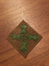 WWI US Army 4th  Division  Patch wool AEF