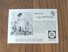 1950's Vogue GINNY Box Insert/Leaflet    2 Sided (Reproduction)