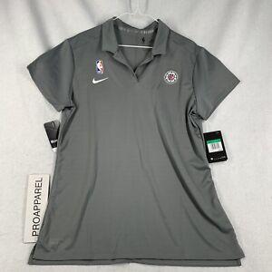 Nike 19-20 Women's LA Clippers NBA Team Trainer Staff Dri Fit Polo Shirt XL-Tall