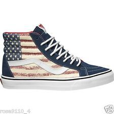 Vans SK8-Hi  HI TOP Dress Blues Americana USA Flag  Mens Shoes Sizes 11M NIB