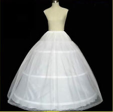 New White 3 Hoop 1Layer petticoat Crinoline Underskirt bridal wedding dress Gown