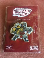 Blizzcon SDCC 2018 Overwatch Payload Tour Doomfist Pin Gold Exclusive