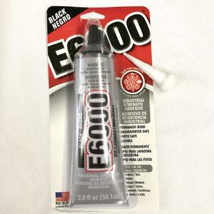 NEW 1 x E6000 - 2.0 fl oz Tube - Black + 1 x Bonus Nozzle + Free Post
