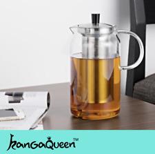 Glass Teapot Italian Surface Technology 150°C Heat-resistant Tea Ware 1200ml