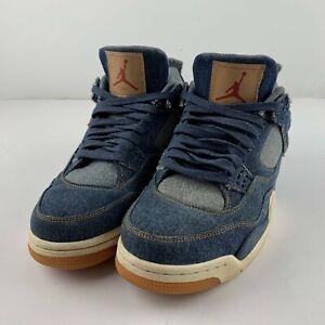 Levi's x Nike Air Jordan Retro 4 Denim Men US 11.5 Blue Sneaker AO2571-401