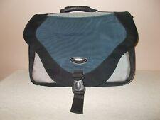 """SOLO Laptop Business Soft Case 12"""" x 18"""" x 3"""" Canvas Blue Gray Black Handle"""