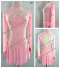 70Girl Marvellous Ice Skating Figure skating Dress Gymnastics Dance Costume Pink