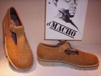 Scarpe sandali El Macho donna bambino shoes casual pelle marroni nuovi new 37