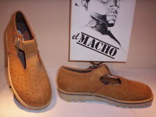 Scarpe sandali El Macho donna bambino shoes casual pelle marroni nuovi new 37