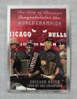 Michael Jordan  Pippen  Rodman Bulls 1997-98 Topps Chrome NBA Championship  #51