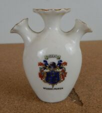 Crested Ware Gemma china 3 spouted Vase Musselborough 8cm tall