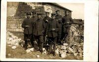 Ansichtskarte PK 1 WK. Feldpost 1917 Soldaten Uniform Heer Pickelhaube Militär