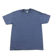 NEW Alstyle Men's Tshirt Size L Adult Plain Blank Tee Blue Baggy Fit Minimalist