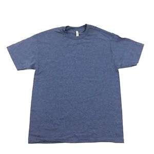 NEW Baggy Tshirt Adult Size L Plain Tee Blue Relaxed Fit Minimalist Earth Tone
