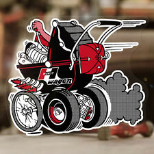 Hurst Kinderwagen Sticker Old School Drag Racing Aufkleber Autocollant Hot Rod