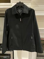 Towne Collection By London Fog Womens Black Jacket Coat Size Medium Vintage EUC!