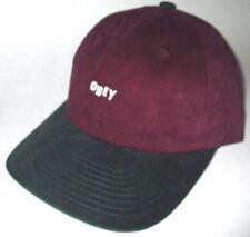 MENS OBEY MAROON EGGPLANT FORREST CAP SNAPBACK ADJUSTABLE HAT