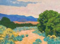 Southwest Landscape Art Oil Painting Western Mountains Desert Light Santa Fe NM