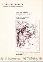Cremona Chiesa di San Omobono 1987 Corso internazionale Canto Gregoriano
