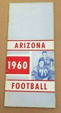 ARIZONA WILDCATS COLLEGE FOOTBALL MEDIA GUIDE - 1960