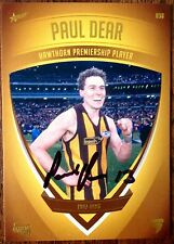 2011 SELECT AFL HAWTHORN HERITAGE CARD NO. 30 PERSONALLY SIGNED PAUL DEAR
