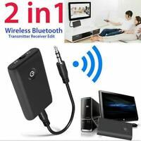 2 in 1 Bluetooth 5.0 Transmitter Receiver TV PC Car Speaker Music Audio Adapter