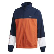 adidas ORIGINALS MEN'S BLOCKED WARM UP TRACK JACKET TOP NAVY ORANGE RETRO NEW OG