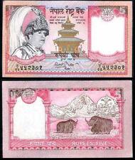 NEPAL 5 RUPEES 2002 P 46A DARK FACE UNC