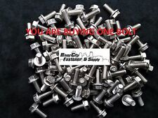 (1) M10-1.5 x 25 / M10x25 Hex Flange Bolts DIN 6921 10mm x 25mm Stainless Steel