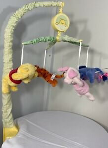 Winnie The Pooh Vintage Mobile Plush Characters Baby Crib Musical Rare