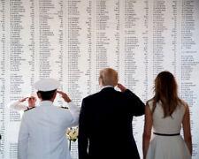 Donald Trump and Melania Trump UNSIGNED photo - K9280 - USS ARIZONA MEMORIAL
