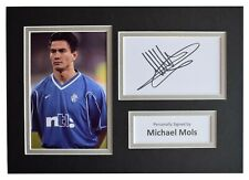 Michael Mols Signed Autograph A4 photo mount display Rangers Football AFTAL COA