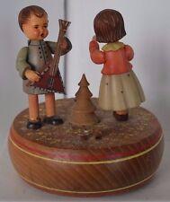 "Vintage Anri ""Lara Theme"" Thorons Music Box Carved Wood"