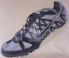 NIKE Zoom Rival Men's 11 Black Gray  Sprint Running Track Shoes w/ Spikes EUC