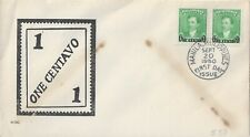 1950 PHILIPPINES FIRST DAY COVER - JOSE RIZAL - OVERPRINT PAIR - CACHETED!