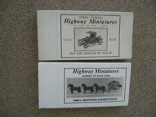 2 HO Jordan Highway Miniatures Vehicle Kits
