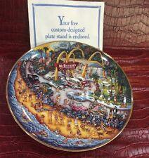 """Franklin Mint McDonald's Hamburgers Collector Plate """"Golden Showcase"""" Bill Bell"""