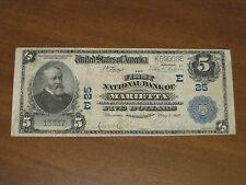 1902 $5 National Bank Note - FNB Marietta Pennsylvania Charter # 25