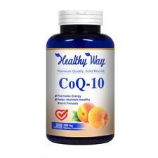 Pure CoQ10 Supplement 400mg Heart Health 200 capsules - FREE SHIPPING NON GMO