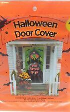 Halloween Large Witch Black Door Cover Decor Indoor Outdoor Yard Seasonal Nip