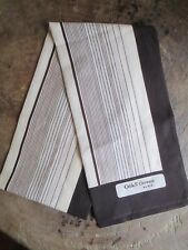 "Vtg Odile S'Germain Paris Scarf Brown Tan striped 51"" Polyester"
