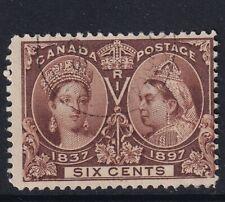 CANADA SG129 1897 JUBILEE 6c BROWN GOOD USED