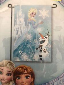 Disney Frozen Decorative Garden Flag 12 x 18 New in Package