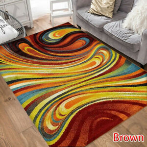 Colorful Rainbow Area Rug Abstract Carpet for Living Room Modern Rug Home Decor